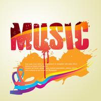 vettore di stile di musica astratta