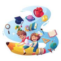 educazione dei bambini concept design vettore