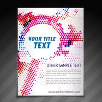 modello di manifesto brochure flyer moderno vettore