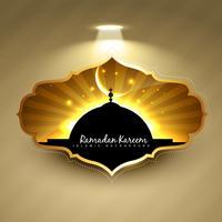 elegante etichetta Ramadan Kareem