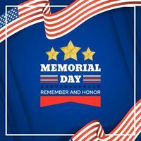 USA Memorial Day festività vettore