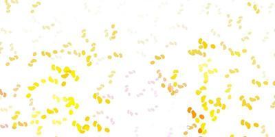 sfondo vettoriale rosa chiaro, giallo con forme casuali.