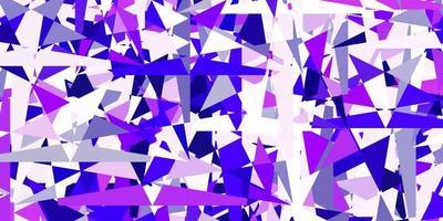 modello vettoriale viola chiaro, rosa con stile poligonale.
