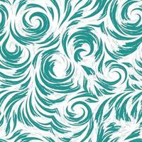 modello turchese di vettore senza soluzione di continuità di linee morbide sotto forma di cerchi e spirali. texture per la finitura di tessuti o carta da imballaggio in colori pastello su sfondo bianco. oceano e onde.