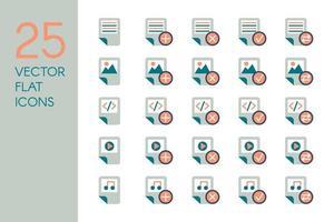 set di icone di file di documento vettore
