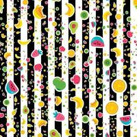 seamless pattern di frutti felici vettore