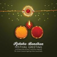 felice biglietto di auguri invito raksha bandhan vettore