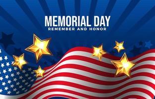 onorare i sacrifici dei nostri eroi durante il memorial day vettore