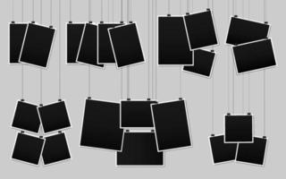 raccolta di cornici per foto in bianco vettore