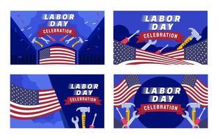 carta della festa del lavoro degli Stati Uniti vettore