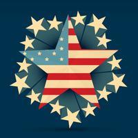 bandiera americana creativa vettore