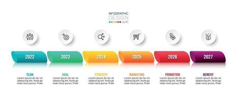 modello di business concetto infografica con opzione annuale. vettore