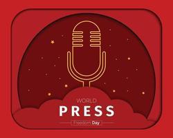 saluto della giornata mondiale della libertà di stampa vettore