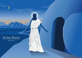 risurrezione di gesù cristo vettore