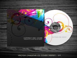 design colorato della copertina del cd vettore