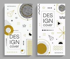 opuscoli con elementi di design di memphis vettore