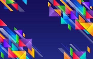 sfondo colorato geometrico vettore