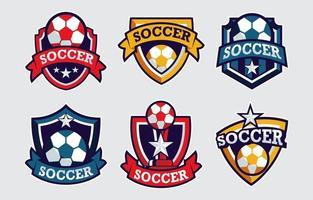 collezione di badge di calcio vettore