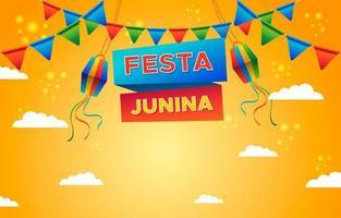 festa junina con sottofondo di aquiloni vettore