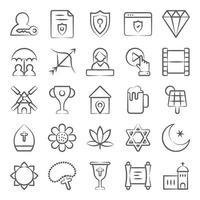 elementi di cultura e tradizione vettore