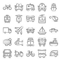 elementi automobilistici alla moda vettore