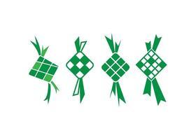 insieme di vettore dell'illustrazione dell'icona di ketupat