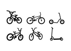 illustrazione di vettore del modello di progettazione dell'icona della bicicletta