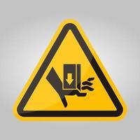 mano schiacciare forza dall'alto segno simbolo, illustrazione vettoriale, isolare su sfondo bianco etichetta .eps10 vettore