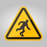 segno di simbolo di pericolo di viaggio isolato su sfondo bianco, illustrazione vettoriale eps.10