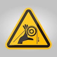 segno simbolo mano entanglement rulli, illustrazione vettoriale, isolare su sfondo bianco etichetta .eps10 vettore