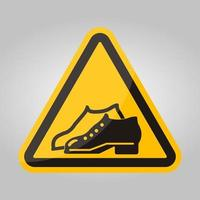 le scarpe con simbolo racchiuso sono obbligatorie nell'area di produzione segno isolato su sfondo bianco, illustrazione vettoriale eps.10