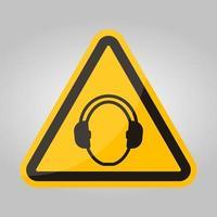 simbolo indossare protezione dell'udito isolare su sfondo bianco, illustrazione vettoriale eps.10
