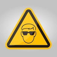 simbolo indossare vetro di sicurezza isolare su sfondo bianco, illustrazione vettoriale eps.10