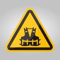Icona ppe. indossare un giubbotto di salvataggio per il simbolo di sicurezza segno isolato su sfondo bianco, illustrazione vettoriale eps.10