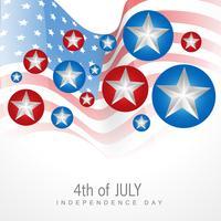 4 luglio giorno dell'indipendenza vettore