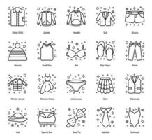 stoffa e accessori moda vettore