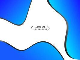 fondo di progettazione del modello della curva di pendenza di movimento ondulato blu geometrico astratto vettore
