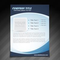 brochure aziendale flyer design vettore