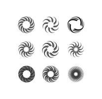 segno rotante del cerchio di turbolenza vettore