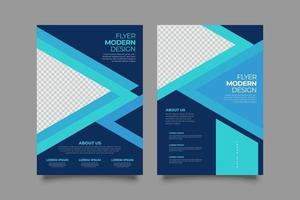 modello di volantino webinar blu con forme geometriche vettore