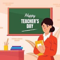 concetto di giorno dell'insegnante felice vettore