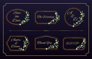 raccolta di modelli monogramma di nozze vettore