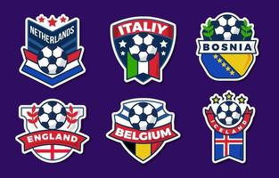 più iterazioni dell'adesivo del campionato europeo di calcio vettore