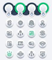 finanza e affari infografica con icone di linea vettore