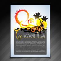 design di brochure estive vettore