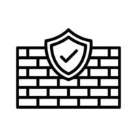 icona di protezione firewalll vettore