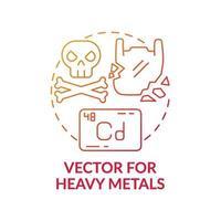vettore per icona del concetto di metalli pesanti