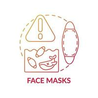 icona del concetto di maschere facciali vettore