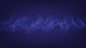 moderna onda sonora digitale, concetto di onda di terremoto vettore