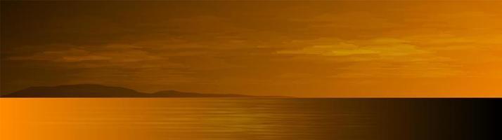 panorama dell'oceano e delle montagne vettore